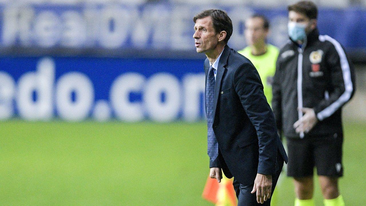 gol Borja Sanchez Zaragoza Real Oviedo La Romareda.Cuco Ziganda, durante un partido del Real Oviedo