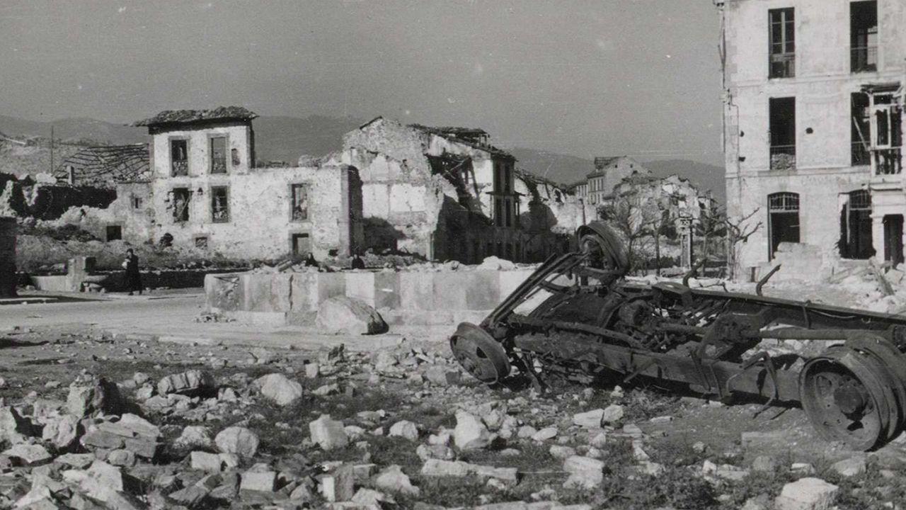 El barrio de San Lázaro en ruinas