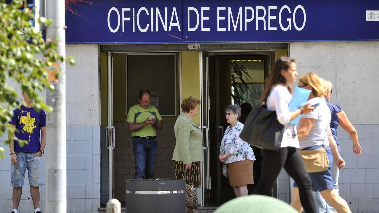 Javier Fernández Lanero en la sede de UGT en Oviedo