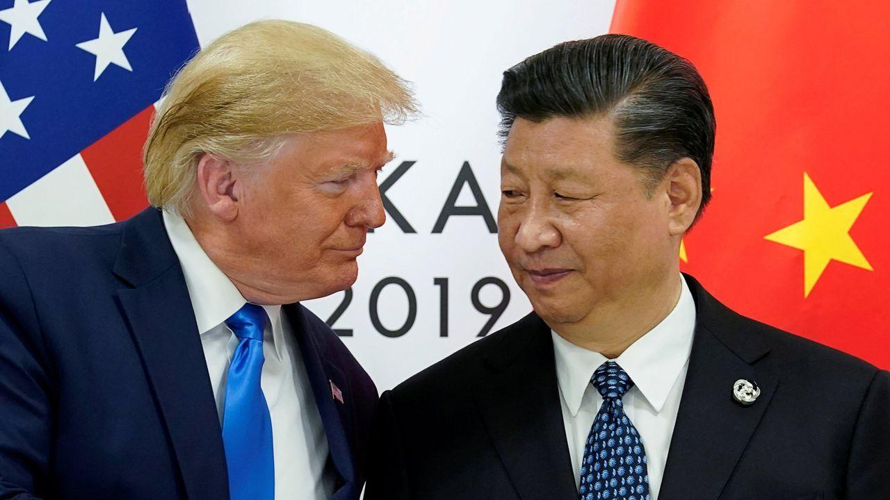 El presidente de EE.UU., Donald Trump, y el presidente de China, Xi Jinping, en la reunión del G20 del 2019