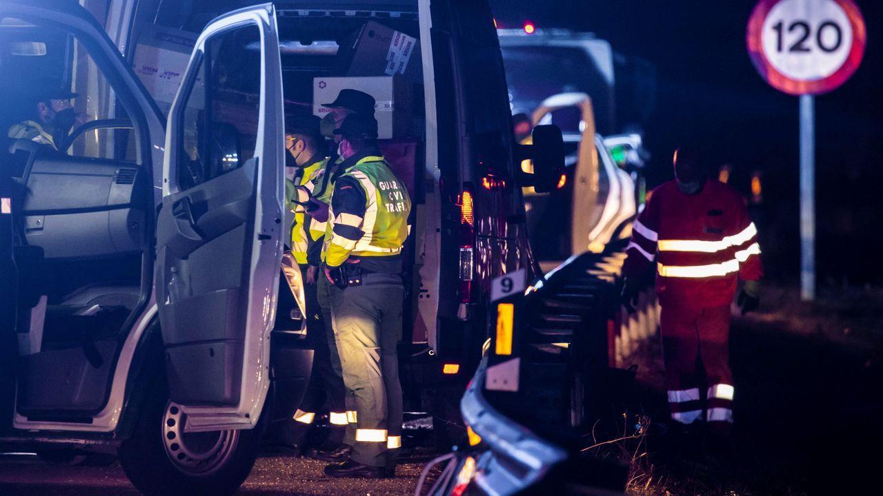 El accidente en el que falleció un guardia civil arrollado por una furgoneta