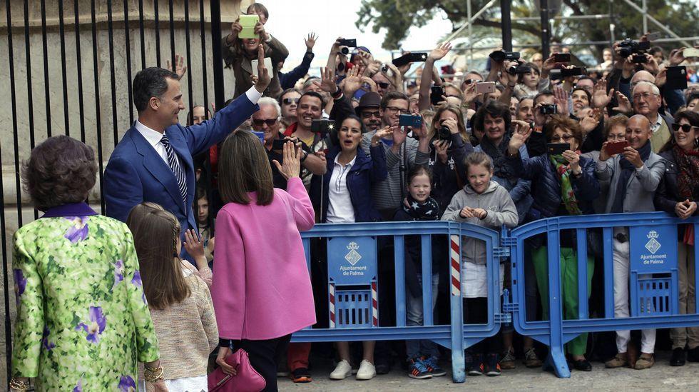 Los reyes, las infantas y la reina Sofía, en Palma