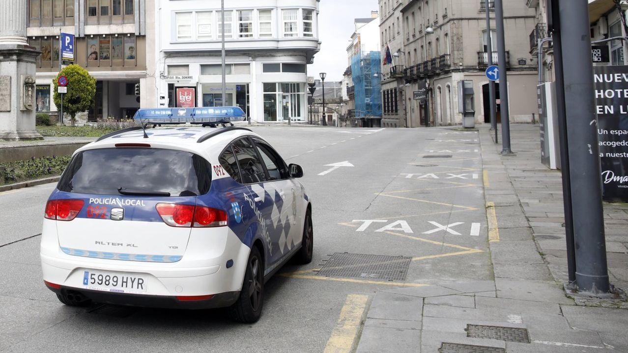 Una patrulla de la Policía Local de Lugo