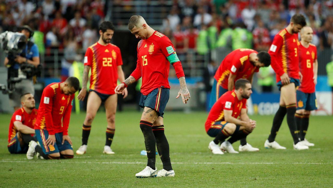 Las imágenes del duelo entre España - Rusia