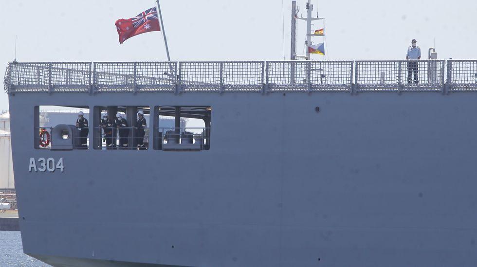 Salida del último buque en construcción en Navantia Ferrol para la Armada de Australia