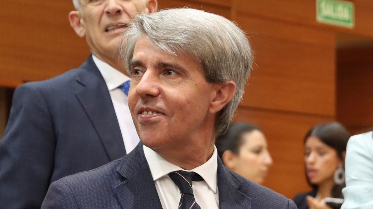 Ángel Garrido, en la Asamblea de Madrid
