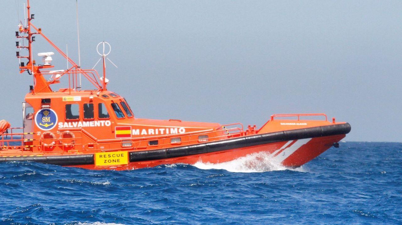 Una lancha de Salvamento Marítimo, similar a la que participó en el rescate