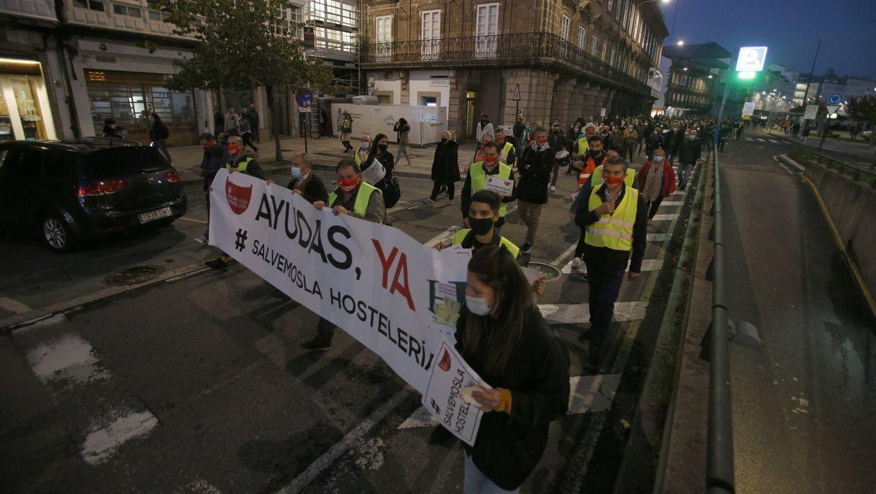 modular.Imagen de archivo de una de las manifestaciones realizadas por los hosteleros coruñeses