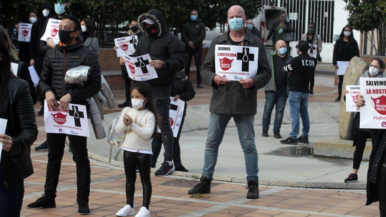 Protesta en Monforte