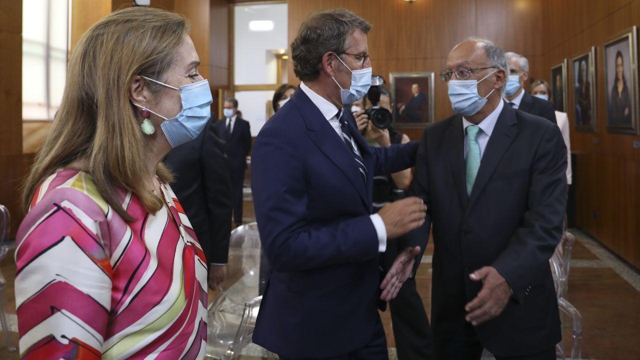 Núñez Feijoo con el expresidente de la Xunta Fernando Gonzalez Laxe