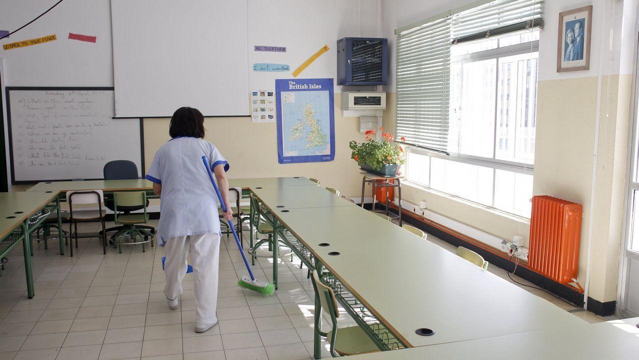 Imagen de una trabajadora de la limpieza