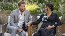 El 8Mtiñe de lila Galicia: las fotos del 8M más atípico por el covid.Los duques de Sussex, Harry y Meghan, durante su entrevista con Oprah Winfrey