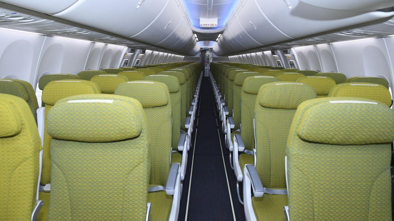 Interior de un Boeing de Ethiopian Airlines