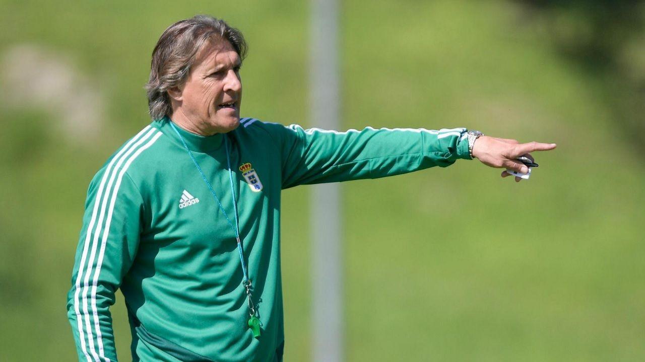Egea Requexon Real Oviedo.Sergio Egea, durante un entrenamiento en El Requexón
