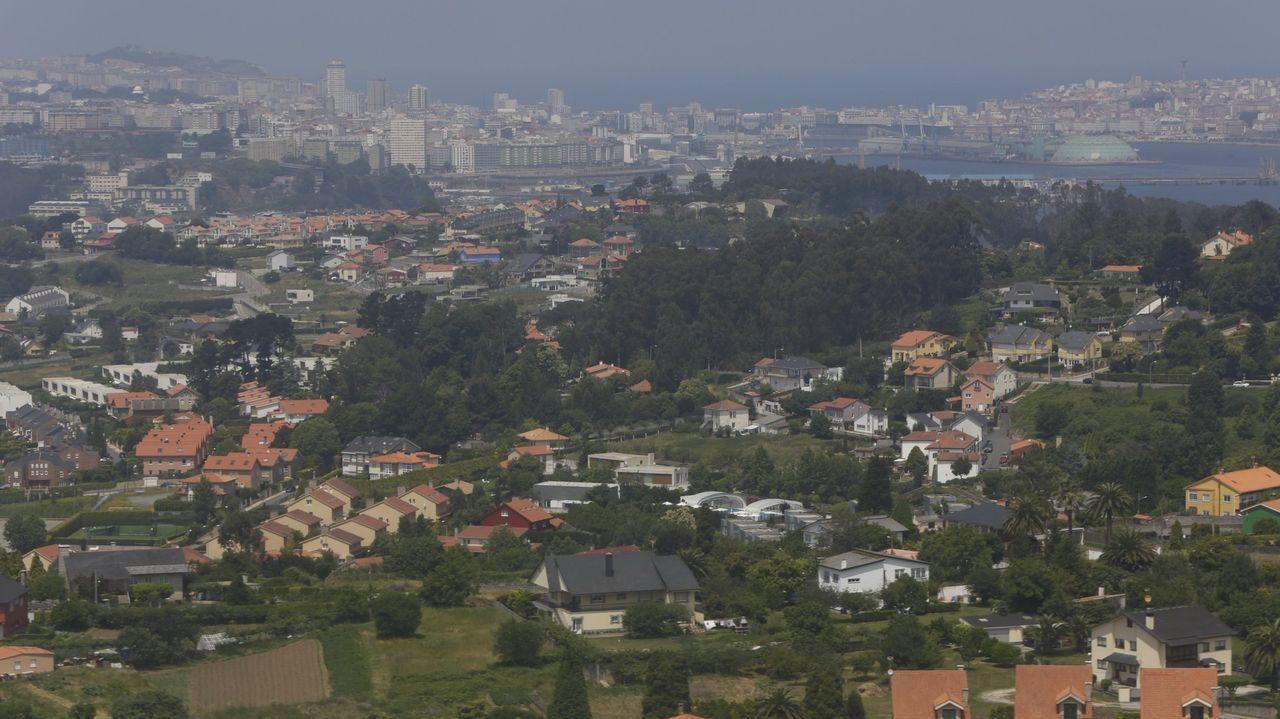 Vista aérea de Oleiros