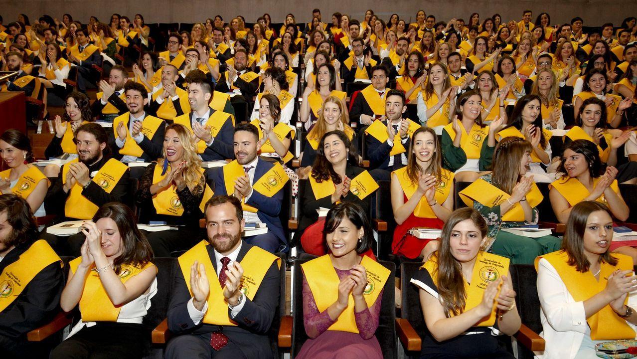 Graduación de los alumnos de Medicina, en la Universidade de Santiago de Compostela