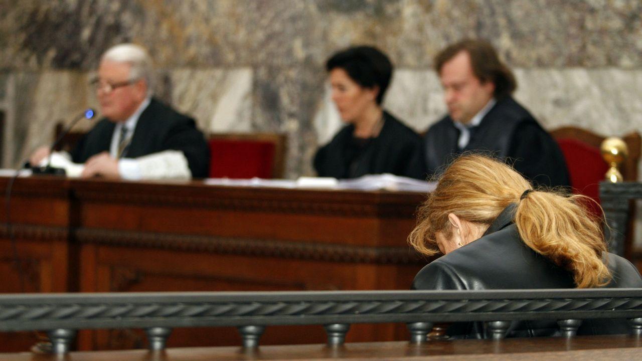 Rocío Gestal en uno de los juicios celebrados por el crimen de su suegra