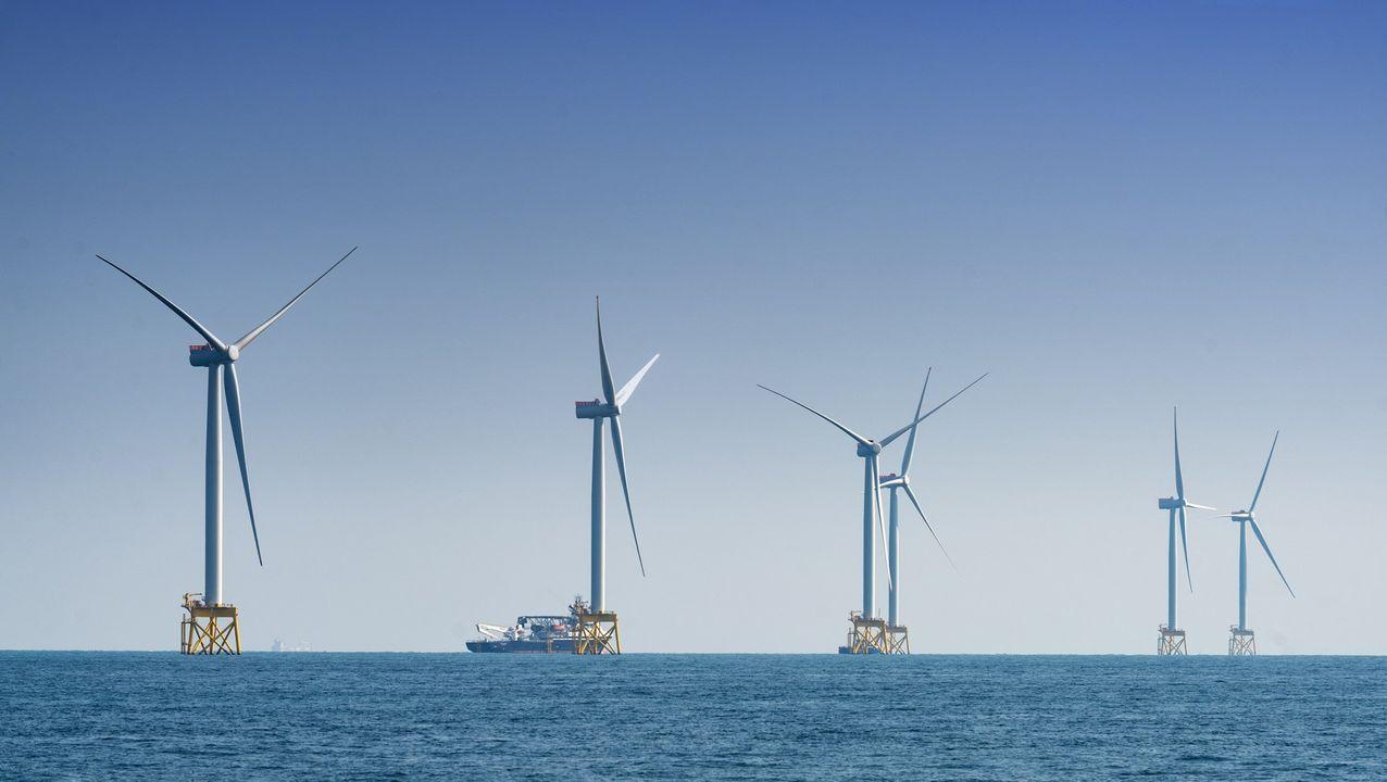 Imagen del parque eólico marino East Anglia One