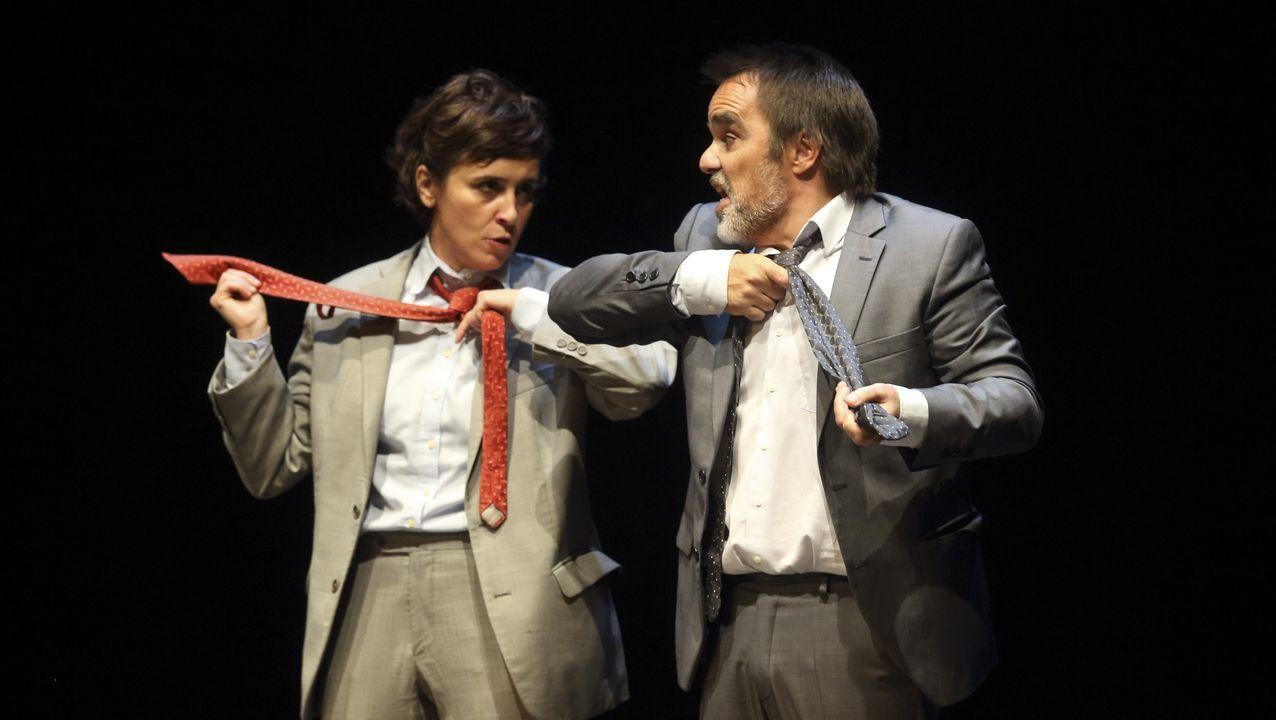 El actor ferrolano Javier Gutierrez recibe su goya a mejor actor por «El Autor»