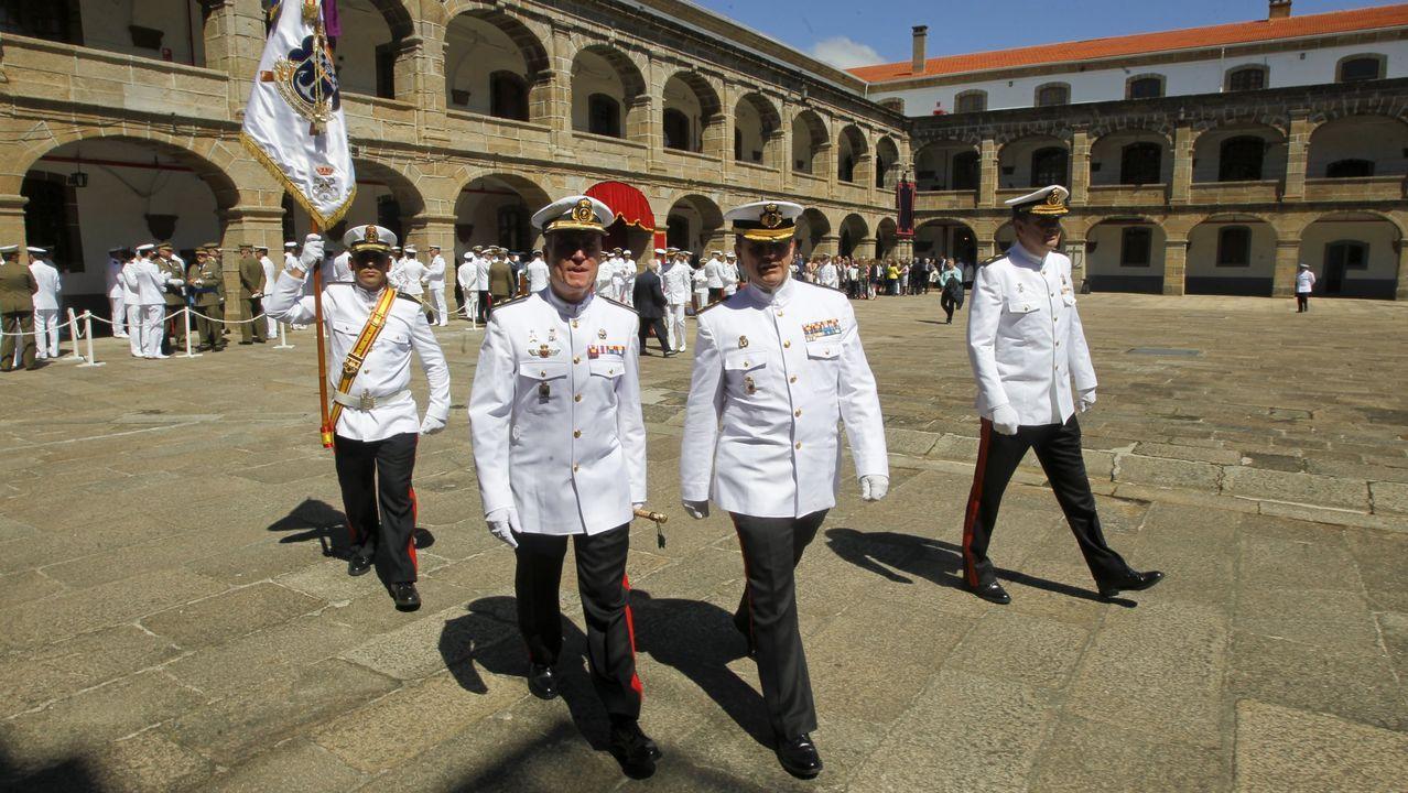 Toma de mando del coronel Sanz Alisedo al frente del Tercio Norte en Ferrol.Ruesta relevó a Pérez-Urruti en el 2018
