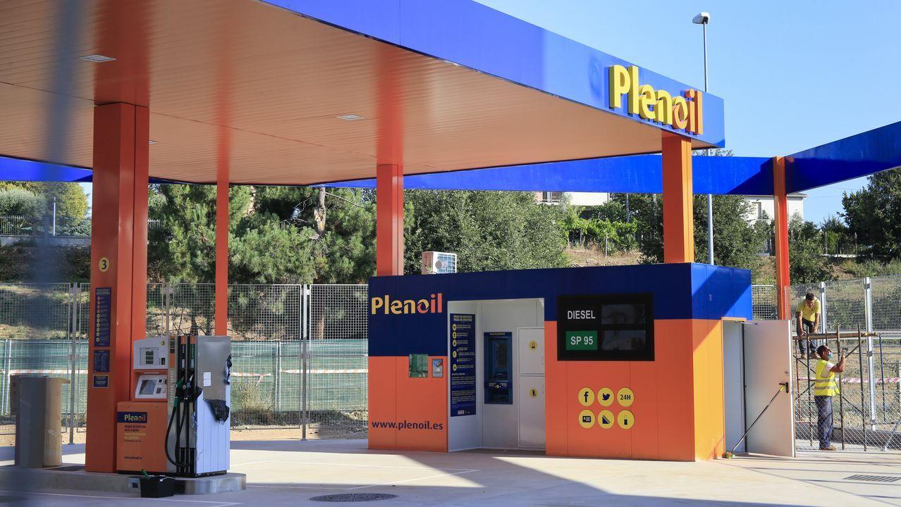 La gasolinera de Plenoil en Monforte