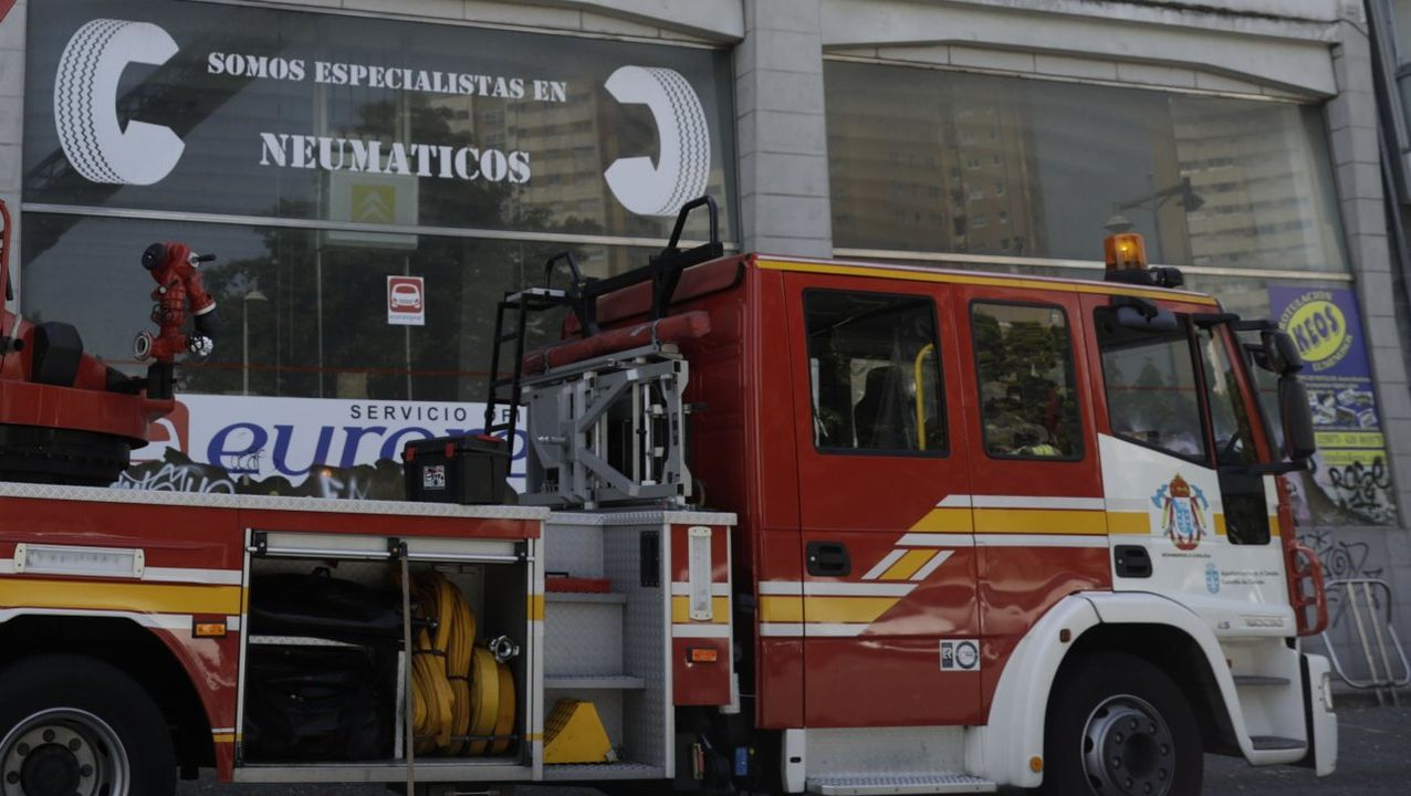 Imagen de archivo de una intervencion de los bomberos