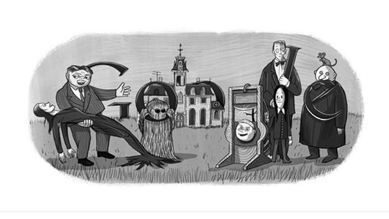 doodle Charles Addams