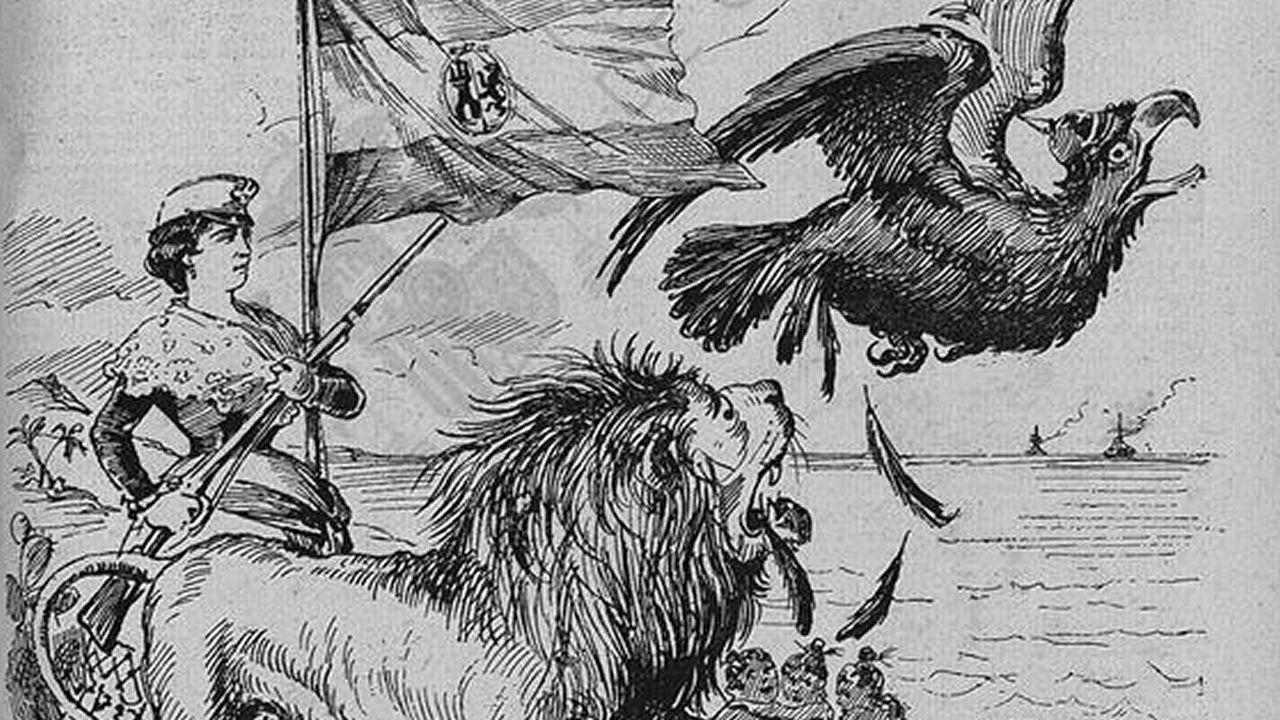 Ilustración aparecida en un ejemplar de «La campana de Gracia»