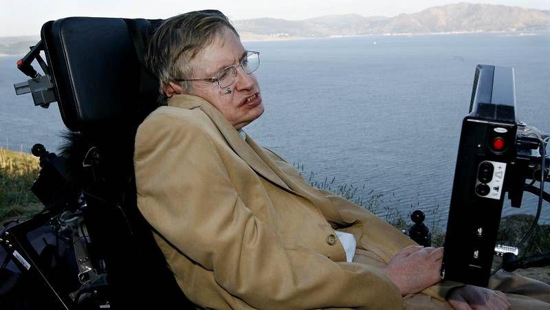 Stephen Hawking, en Fisterra.