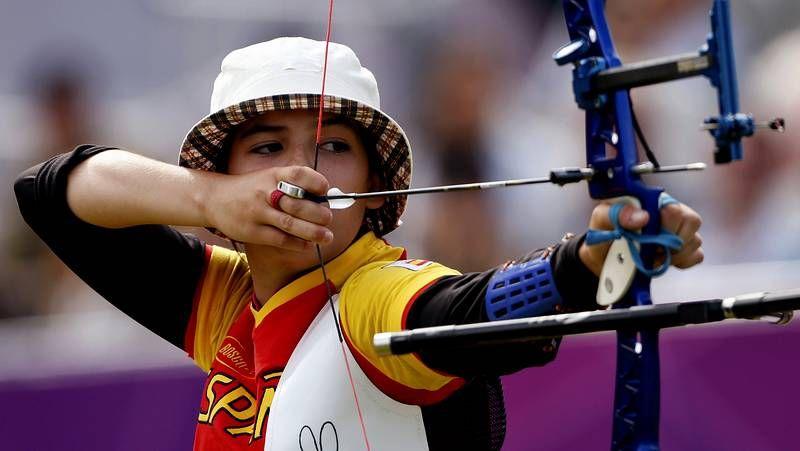 La arquera ferrolana, durante los Juegos Olímpicos