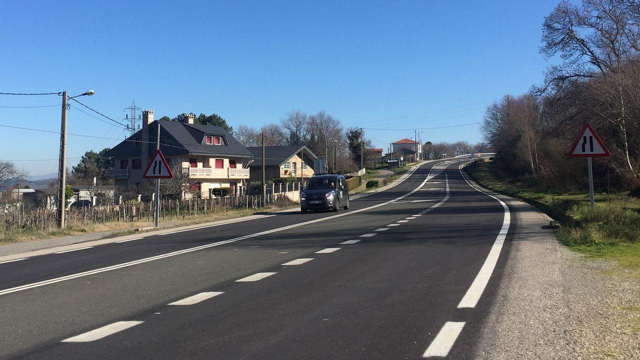Carretera que une Ourense con Castro Caldelas