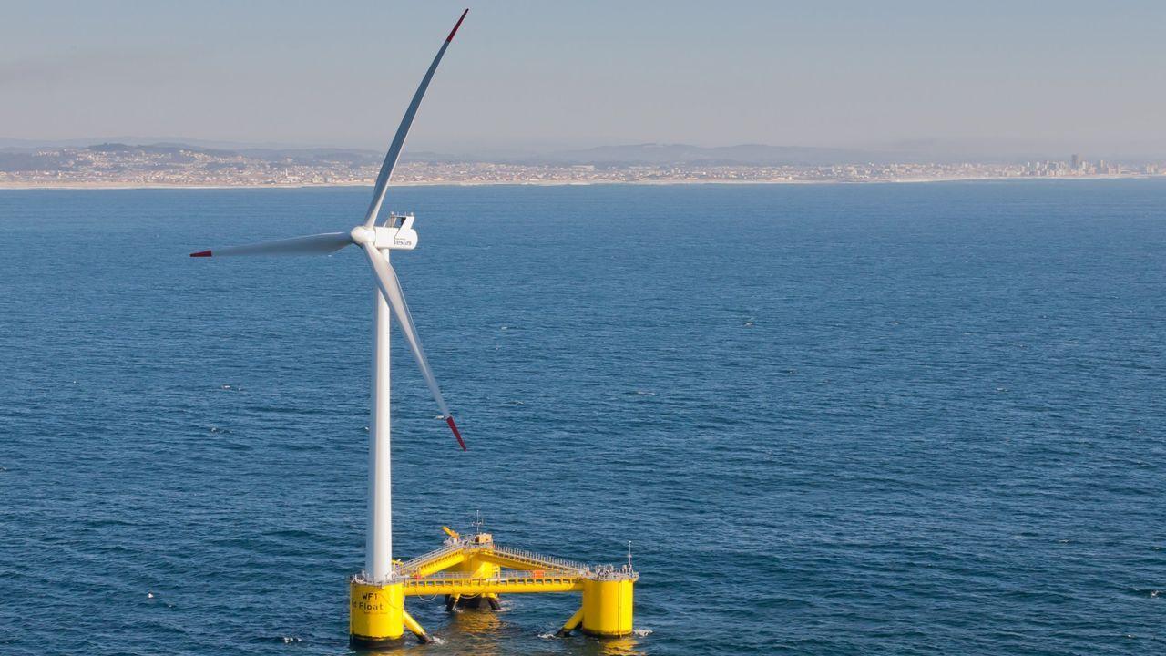 Imagen de archivo de un parque eólico marino