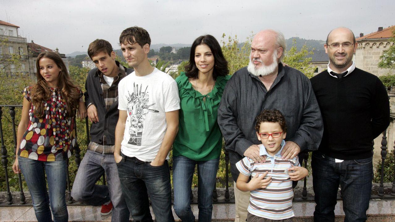 Rueda de prensa del director y los actores de «Los girasoles ciegos» en Ourense. Entre el elenco están Javier Cámara, Maribel Verdú, Raúl Arévalo, Martiño Rivas e Irene Escolar.