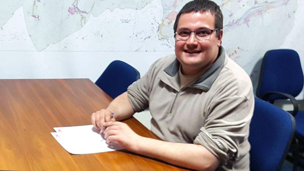 El concejal del PSOE, Diego Valiño