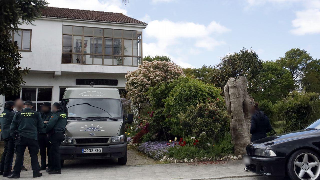 Vivienda de Muimenta, en Cospeito, en la que apareció muerta la niña y en la que residía con su madre y con su abuela