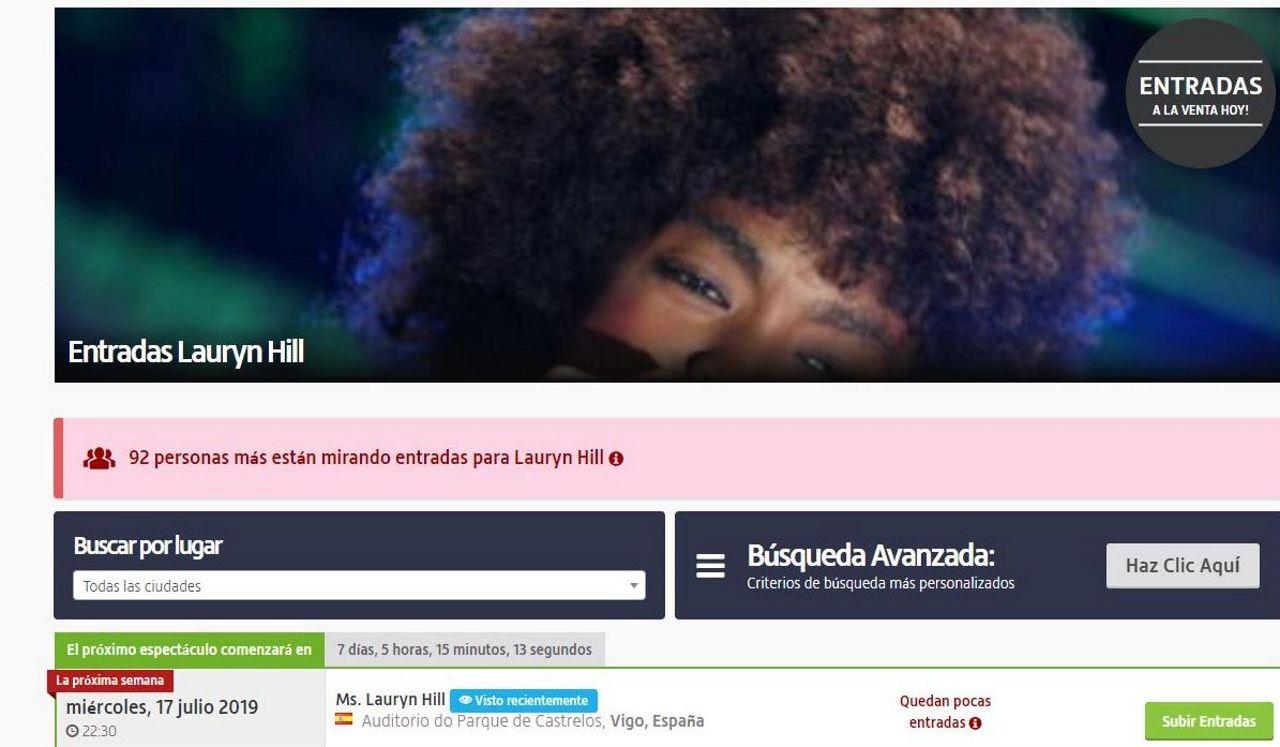 La gran tala de la Gran Vía de Vigo.Lauryn Hill