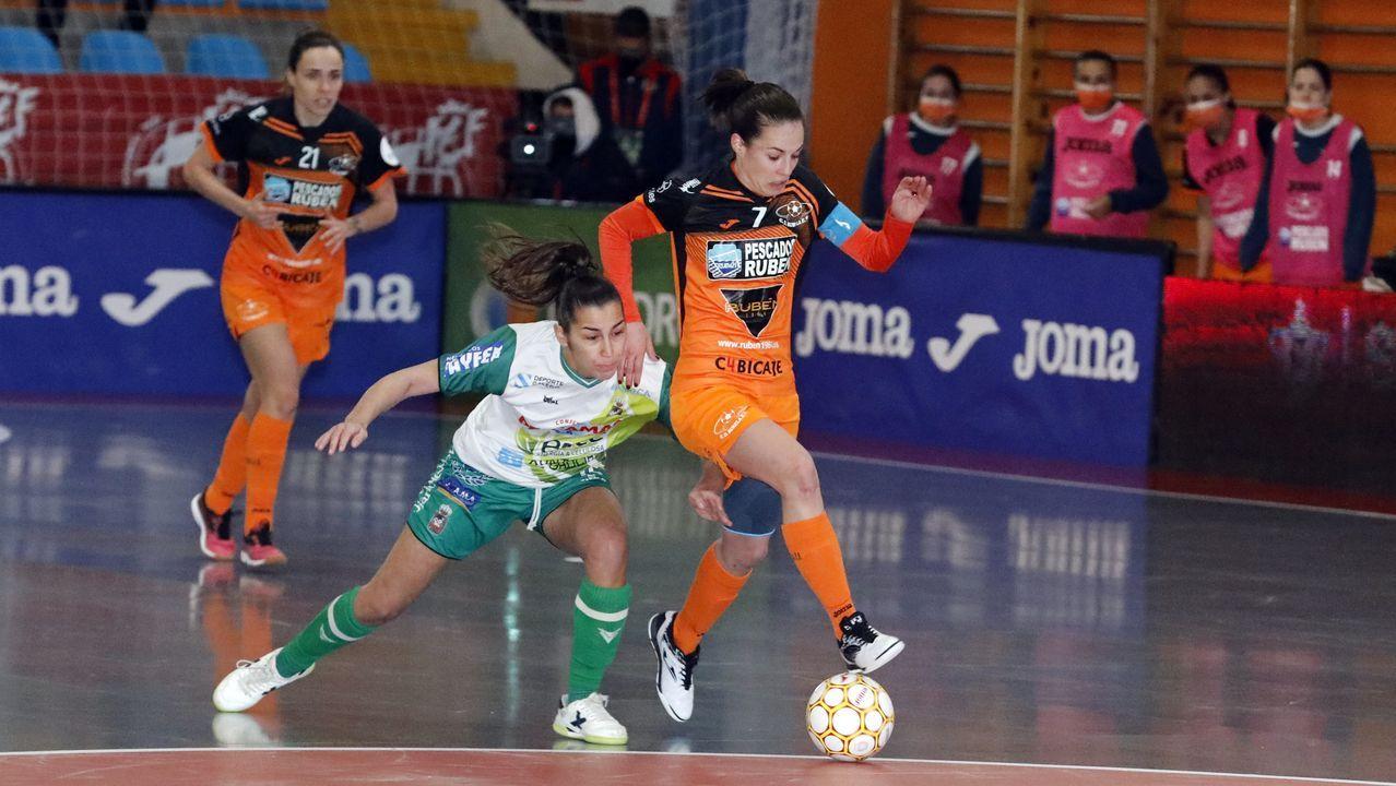 Peque, en un lance de la Supercopa el sábado en Burela