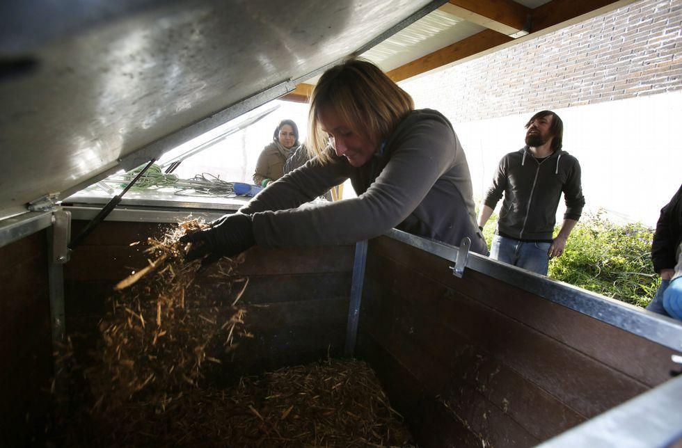 Control de residuos para generar compost