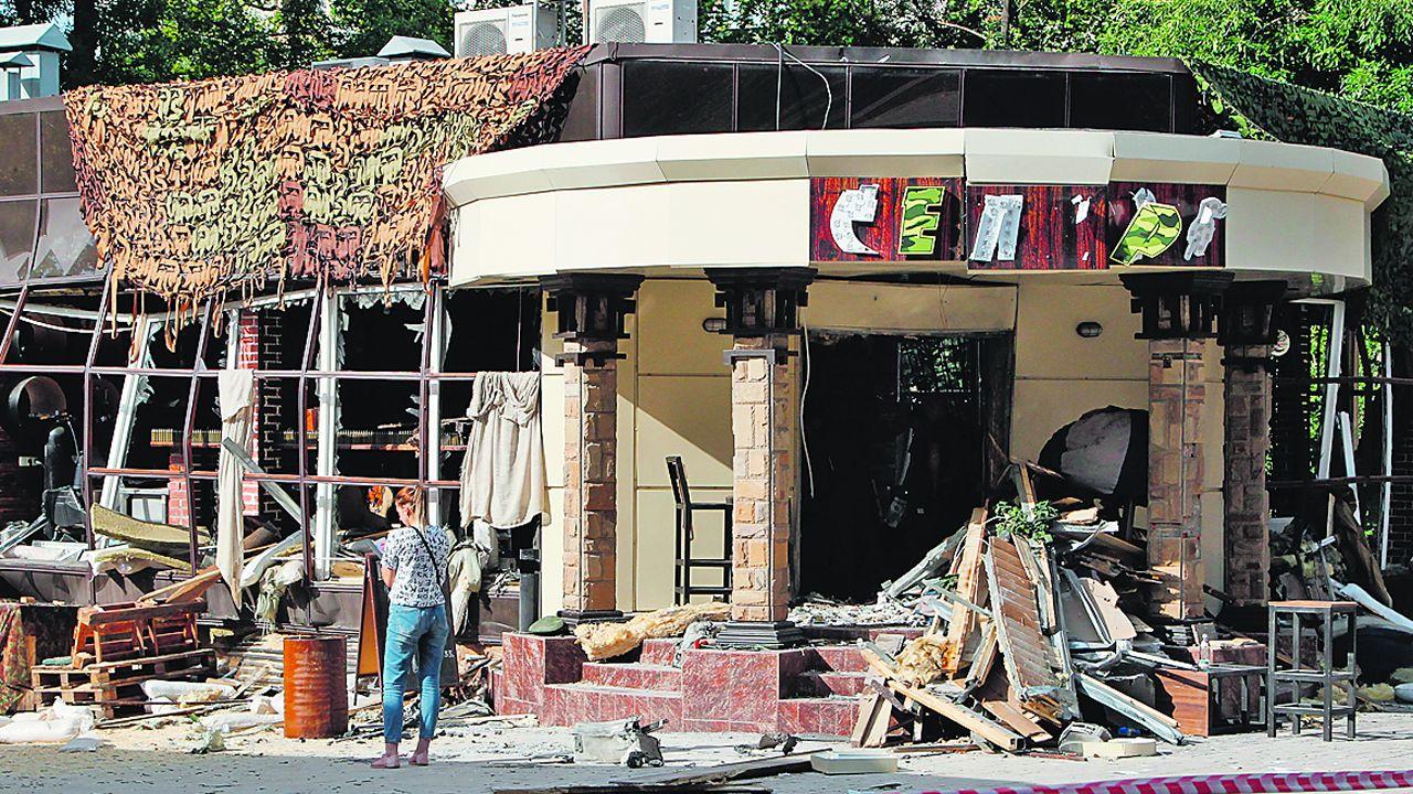 La cafetería donde se produjo la explosión quedó completamente destruida