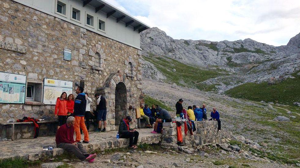 El refugio de Urriellu, en Picos de Europa.El refugio de Urriellu, en Picos de Europa