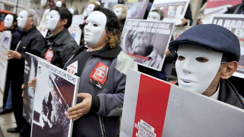 Acción solidaria organizada por Cártias en apoyo del os sin techo