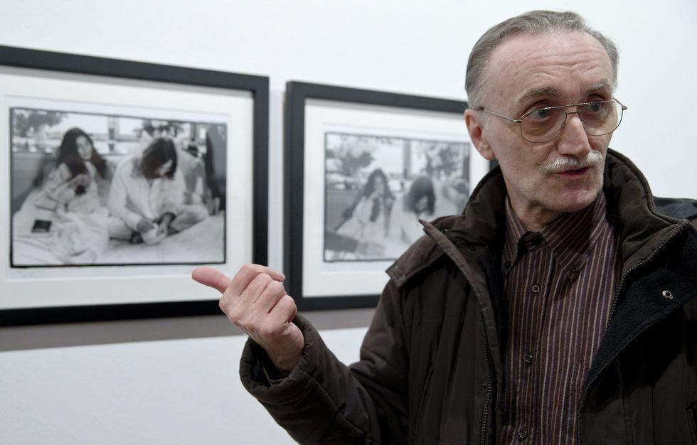 Bruno Vagnani, en la exposición «John Lennon & Yoko Ono: Suite 1742».