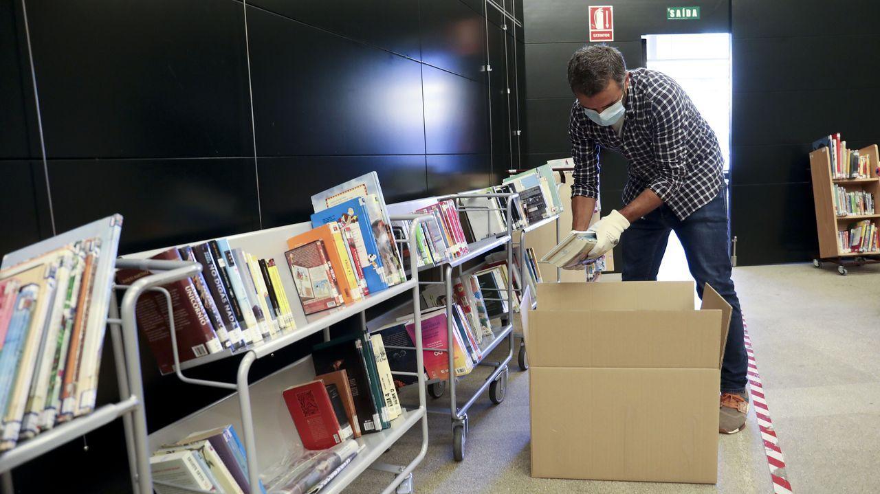 Bibliotecas gallegas como la Ánxel Casal de Santiago recuperan progresivamente la normalidad