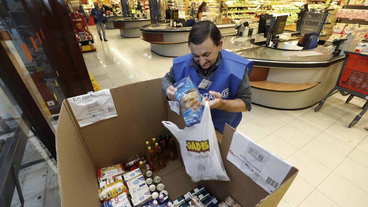Las despensas sociales se vacían.Campaña de recogida de comida celebrada en noviembre pasado e impulsada por el Banco de Alimentos de A Mariña
