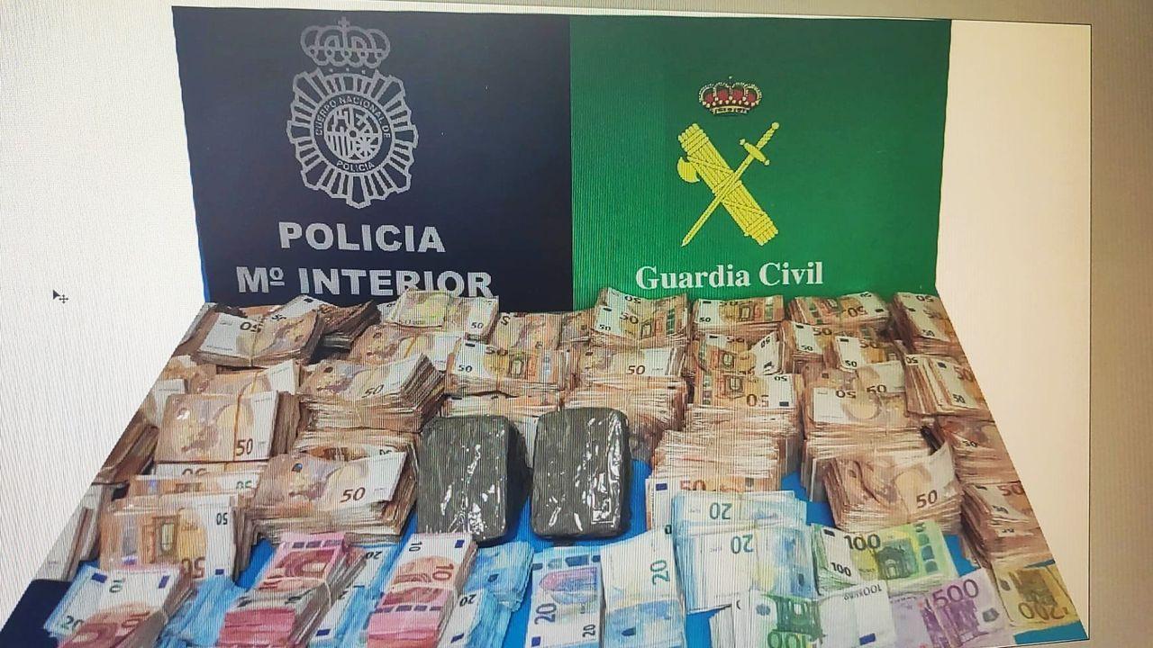 El dinero se distribuía en infinidad de billetes cuya mayor cuantía era de 50 euros