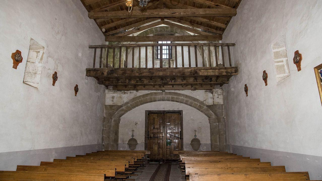 La entrada de la iglesia vista desde el interior, al que se puede acceder en contadas ocasiones