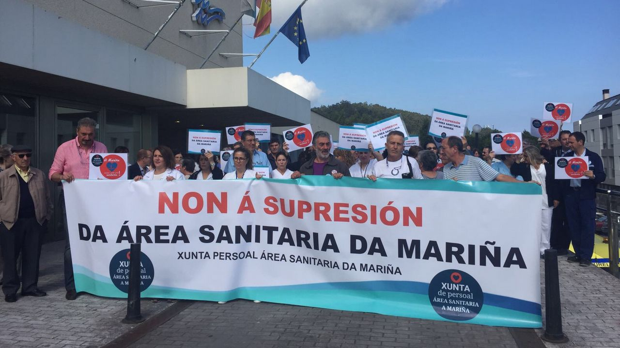 Caravana para pedir el área sanitaria de A Mariña