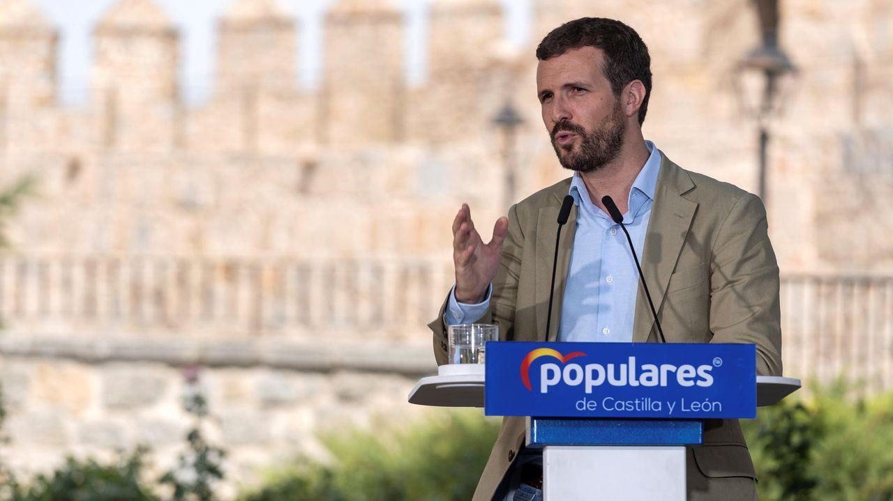 Pablo Casado acompaña a Núñez Feijoo en la apertura del curso político.El nuevo vicesecretario de comunicación del PP, Pablo Montesinos
