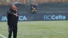 Mario Prieto, durante el encuentro ante el Celta B