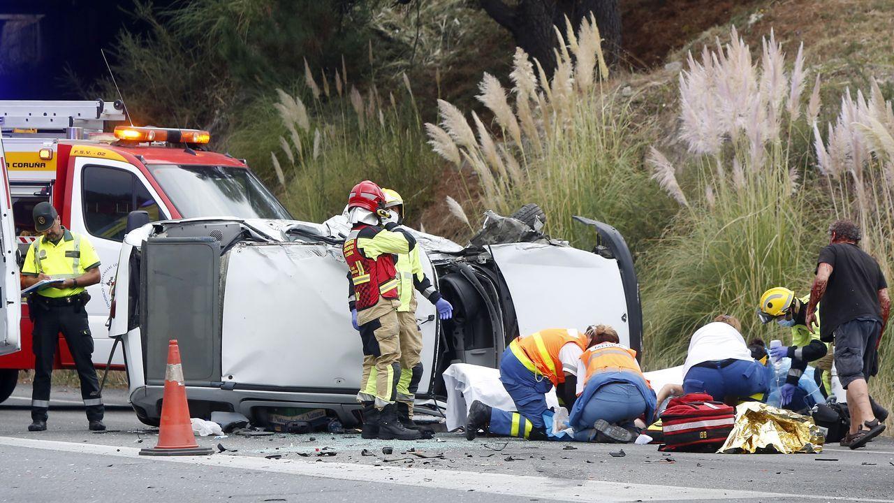 Accidente en el Quinto Pino.Imagen de archivo del primer día en Arteixo tras las restricciones impuestas por la Xunta